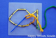 Lacing Cards - super easy with plastic canvas!! - - Re-pinned by @PediaStaff – Please Visit http://ht.ly/63sNt for all our pediatric therapy pins