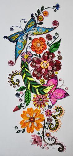 Quilled Flower Creation - by: Prachi Malandkar