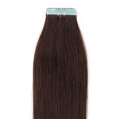 """Beauty7 16-28 Inch Tape in Premium Real Human Hair Extensions 20 Pieces 30g-70g Straight #2 Dark Brown (18"""" 40g). Imported. 40g/pack, 20 pieces, super hold tape in hair extensions. Made from real human hair, can be permed, straightened & washed. As the extensions have been previously chemically processed, it's not recommended to color the hair again. Adds instant length and volume, silky, soft, and tangle free. As the length of real human hair differs, the thickness of the extension…"""