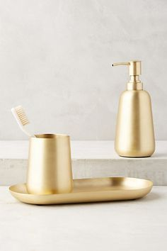 Anthropologie EU Gleaming Brass Bath Collection