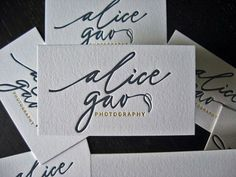 30 Incredible Letterpress Business Card Examples | UltraLinx