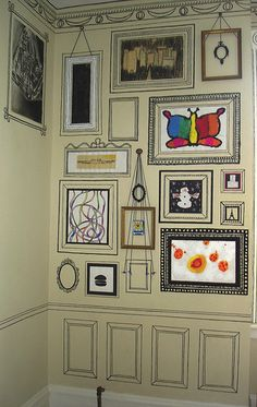 Cute idea for displaying your kids' artwork :o)