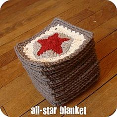 INSPIRATION - Love this pattern ! Book Reference included (Source : http://fclll.over-blog.com/article-all-star-blanket-2-90994123.html#)