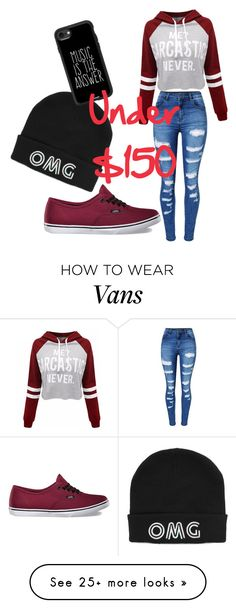 """""""Outfits Under $150"""" by juliagiraffe607 on Polyvore featuring WithChic, Vans and Casetify"""