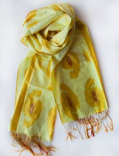 Items similar to SIlk Ikat Scarf on Etsy Ikat, Silk, Trending Outfits, Etsy, Shopping, Vintage, Products, Fashion, Moda