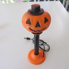 vintage halloween blow mold pumpkin circa 1960s