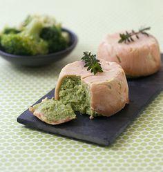 Timbales au saumon fumé et mousse de brocolis, à la manière de Jeanne - les meilleures recettes de cuisine d'Ôdélices