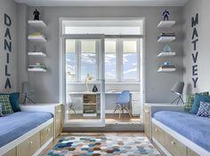 Beautiful bright design for little ones Boys Bedroom Decor, Bedroom Green, Trendy Bedroom, Bedroom Colors, Home Bedroom, Ideas Habitaciones, Bedroom False Ceiling Design, Kids Room Design, Apartment Design
