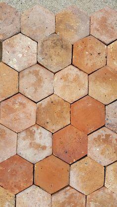 carrelage sol terre cuite 20 x 20 cm hexagonale vendu au carton sol terre cuite carrelage. Black Bedroom Furniture Sets. Home Design Ideas