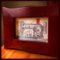 Little sewing machine cross stitch