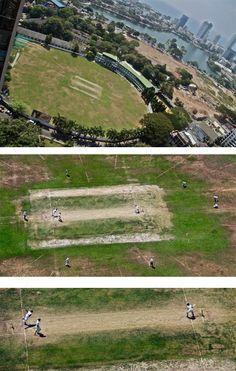 zooming into the cricket play field, Colombo, Sri Lanka #SriLanka #Colombo #Cricket