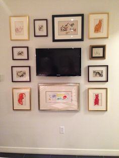 Picture wall with a TV centerpiece Picture Wall, Centerpieces, Gallery Wall, Tv, Frame, Pictures, Inspiration, Ideas, Home Decor