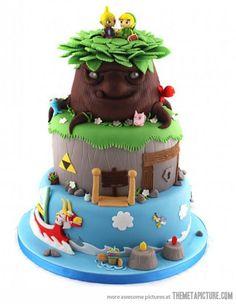 Amazing Legend of Zelda cake. I want and I want it bad