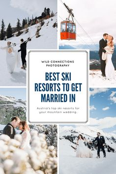Want to know the best ski resorts on Austria to get married? Let Wild Connections Photography introduce you to some of Austria's best ski resorts for a winter wedding. Winterthur, Bergen, Wedding Locations, Wedding Venues, Wedding Tips, Weddings Abroad Destinations, Snowboard Wedding, Got Married, Getting Married