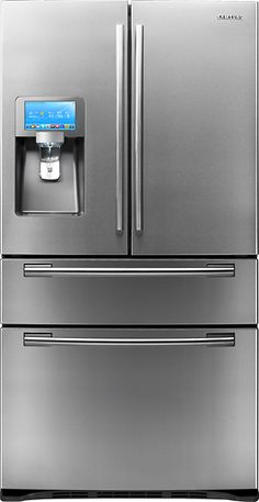 This is my dream fridge! It has a computer touch pad above the ice maker! You can download your favorite apps, scan bar codes of things in your fridge to create a grocery list, and tweet! I hate twitter! But how cool is that?!