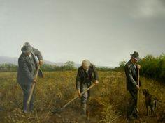 """Digging Potatoes"" - Irish painting - Martin Driscoll"