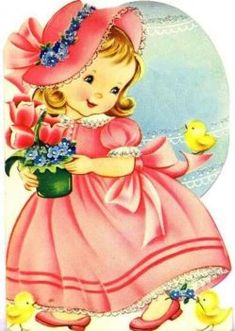 vintage easter cards: 9 thousand results found on Yandex. Vintage Birthday Cards, Vintage Greeting Cards, Vintage Valentines, Vintage Holiday, Vintage Postcards, Vintage Images, Vintage Children's Books, Vintage Girls, Holly Hobbie