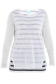 Layered Stripe Knit - Designer Women's Clothes Online