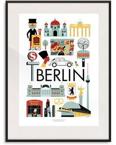 BERLIN PRINT BY INGELA P ARRHENIUS