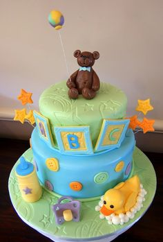 Baby shower cake for boy.