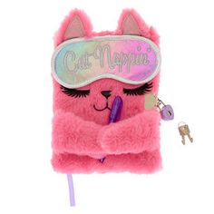 Claire& Sleepy the Cat Lock Plush Diary Baby Girl Toys, Toys For Girls, Baby Dolls, Justice Accessories, Claire's Accessories, Diy Back To School Supplies, Cute Diary, Cute Notebooks, Pink Cat