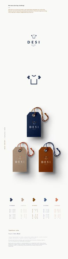 Desi Shirt 服装品牌形象VI设计