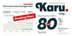Karu Font: Karu is a workhorse font family with flair – suitable for everything from corporate branding to editorial design or packaging. Dow Jones, Corporate Branding, Font Family, Typography Fonts, Type Design, Editorial Design, Promotion, Desktop, Brand Management