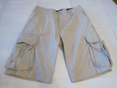 Men's Tommy Hilfiger 30 shorts cargo 270 Stone 860616854 walk casual TH RARE #TommyHilfiger #Cargo