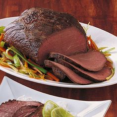 Rotweinbraten or Braised Beef in Red Wine is a German recipe that is wonderful for the holiday menu. The beef will be marinated for one day in a red wine marinade. Radish Recipes, Meat Recipes, Cooking Recipes, Drink Recipes, Carne Asada, Slow Cooking, Best German Food, European Dishes, Braised Beef