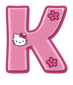 hello kitty letter K Hello Kitty Birthday Theme, Hello Kitty Themes, Hello Kitty Pictures, Kitty Images, Hello Kitty Imagenes, Alphabet And Numbers, Alphabet Letters, Hello Kitty Wallpaper, Cat Party
