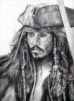 Print of Jack Sparrow Portrait