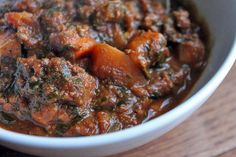 The Quintessential Fall Chili with Beef and Sweet Potatoes -- Done