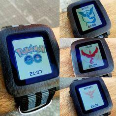 En estos días de fiebre #pokemongo mostrad orgullosos vuestro equipo en vuestro #pebble #watchface