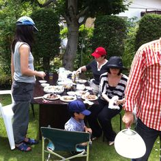 BBQ at home.