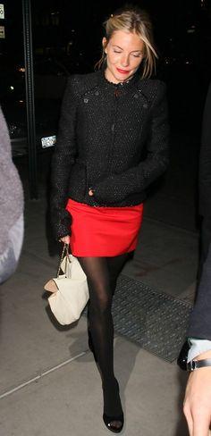 Sienna's Black & Red Mini | New York City style.
