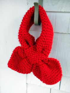 hand knit toddler scarf - bow-knot style - so darling for Felicity for Fall!  - shop KnitsforCuties