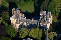 Step back in time with this 16th century French Castle : The Château de Vigny - Aerial View