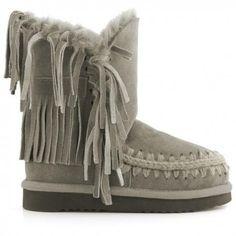 8c87854320b Mou Eskimo Fringe Boots Women Corda Botas Tan
