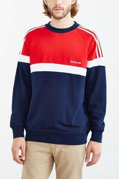 Shop adidas Itasca Crew Neck Sweatshirt at Urban Outfitters today. Retro Fashion, Mens Fashion, Its A Mans World, Crew Neck Sweatshirt, T Shirt, Adidas, Urban Outfitters, Fitness Models, Men Sweater