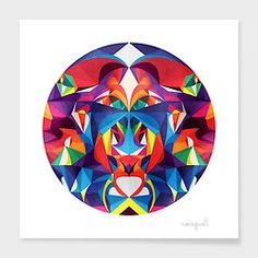 """""""The shapes and colors in a circle start as a story about myself, but the magic thing is that when someone else looks at the same circle they will see a whole other story and it becomes about them."""" Based out of Romania, Digital Artist Anai Greog continues to create, inspire, and add color to the lives of many all around the world.  Shop Anai Greog's """"Circles of Shapes & Colors"""": http://cur.im/1xwjTyX#As-115"""