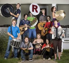 Mount Righteous- a 11 piece texas folk-punk-orchestral marching band ensemble.