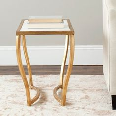 Shop for Safavieh Hidden Treasures White Granite Brass Accent Table. Get free shipping at Overstock.com - Your Online Furniture Outlet Store! Get 5% in rewards with Club O!