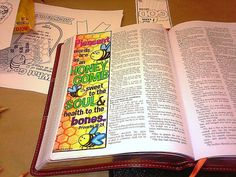 Bible Journaling Margin Art with honeycomb and by SewBitandCo