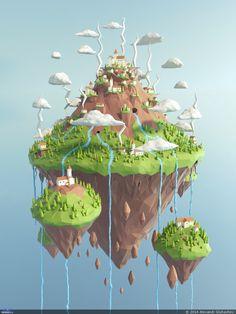 Левитирующий остров — Компьютерная графика и анимация — Render.ru