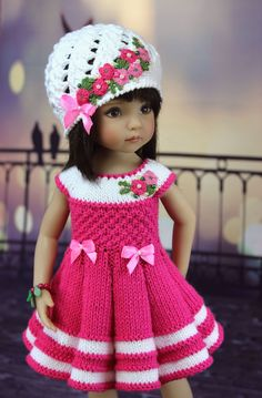 Diy Crafts - VK is the largest European social network with more than 100 million active users. Knitting Dolls Clothes, Crochet Doll Clothes, Sewing Dolls, Girl Doll Clothes, Doll Clothes Patterns, Girl Dolls, Knitted Doll Patterns, Crochet Doll Pattern, Knitted Dolls