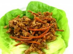 Skinny Mu Su Lettuce Wraps-2 points+  Wow…Wait until you taste this delectable recipe! It's a low carb, calorie and fat variation of Mu shu pork. The skinny for each lettuce wrap, only 73 calories, 1 gram of fat and 2 Weight Watchers POINTS.