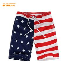 9640a5ca3f VICVIK brand Flag Beach Shorts For Boys Surf Board Short Custom Swim Trunks  Kids Sport Wear American Flag Board Shorts 2016 New - SMS - F A S H I O N
