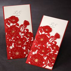 Chinese Red Wedding Invitation Cards,Laser Cut Wedding Cards, China Style Wedding Cards