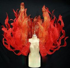 Available colors are as shown. Showgirl Costume, Circus Costume, Carnival Costumes, Fire Costume, Phoenix Costume, Fire Crafts, Fire Fairy, Showgirls, Looks Style