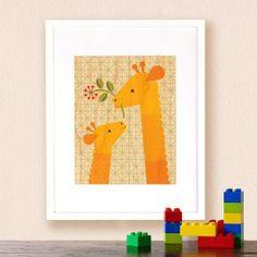 Petit Collage - schilderij giraf op houtSchilderij giraf van Petit Collage is gedrukt op mooidun hout. Deze prachtigeprint op esdoorn fineer hout is gedrukt met een natuurvriendelijke verf zonder schadelijke stoffen.